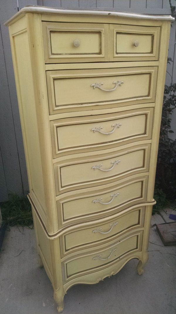 Pick Color Vintage French Provincial Lingerie Dresser