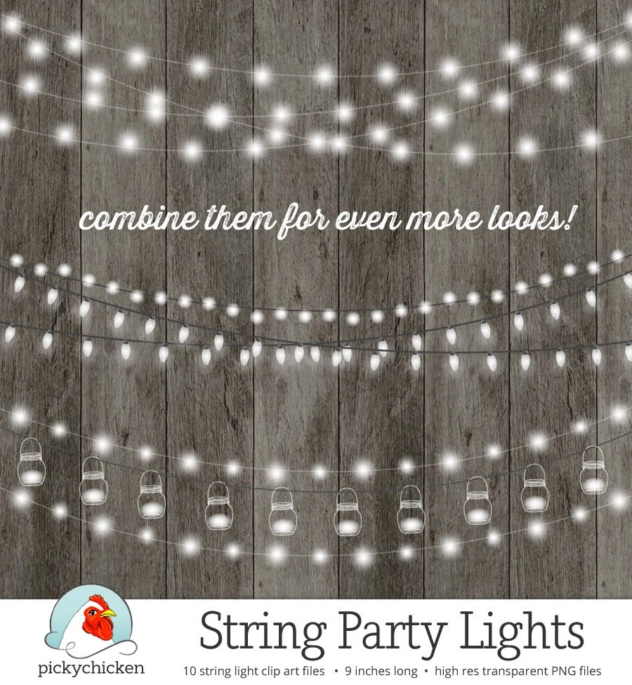 String Lights Clipart Fairy Lights Chalkboard Party Lights
