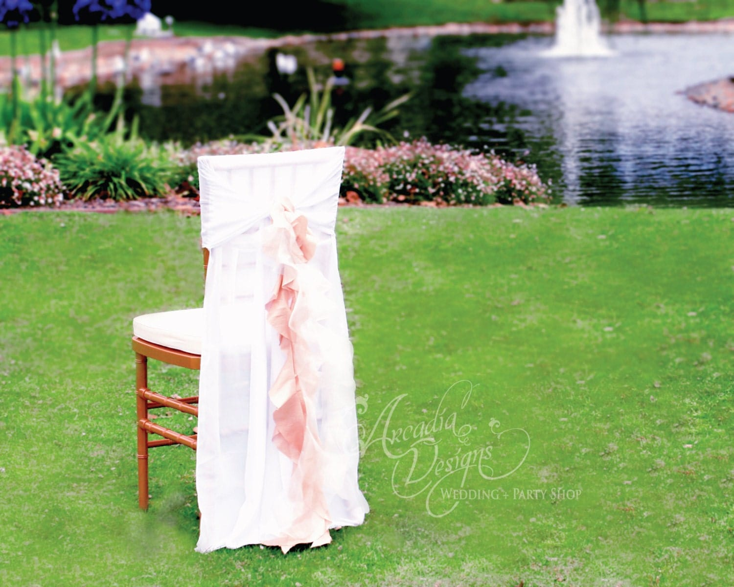 ruffle chair sashes swing range ruffled covers wedding decoration made to order chiffon