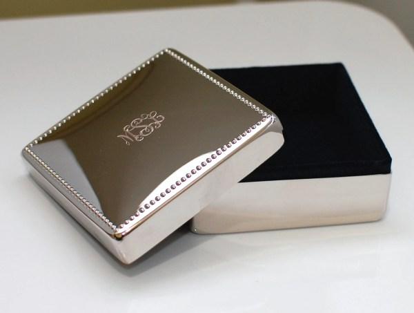 Personalized Silver Jewelry Box