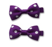 purple small bow classic simple