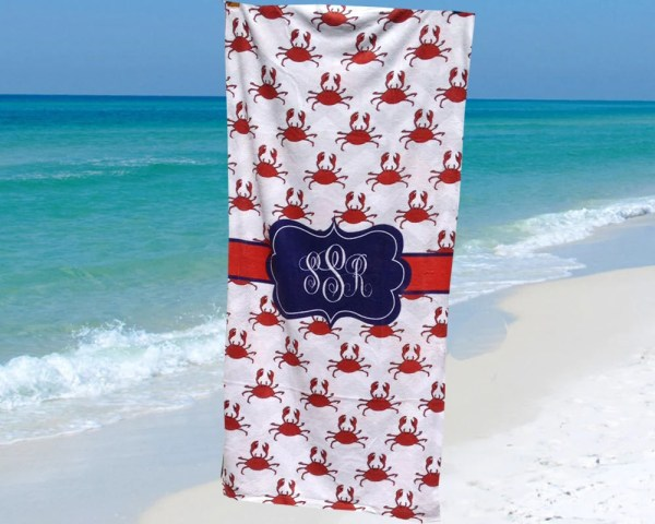 Beach Towel Personalized With Monogram