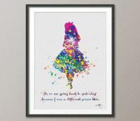 Alice in Wonderland Alice in Wonderland Quote Watercolor