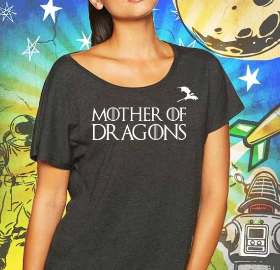 Mother of Dragons Women's Black Dolman Shirt