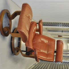 Swedish Leather Recliner Chairs Hanging Chair Maison Du Monde Danish Scandinavian And Ottoman Brown
