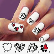 paw cat dog nail art 60