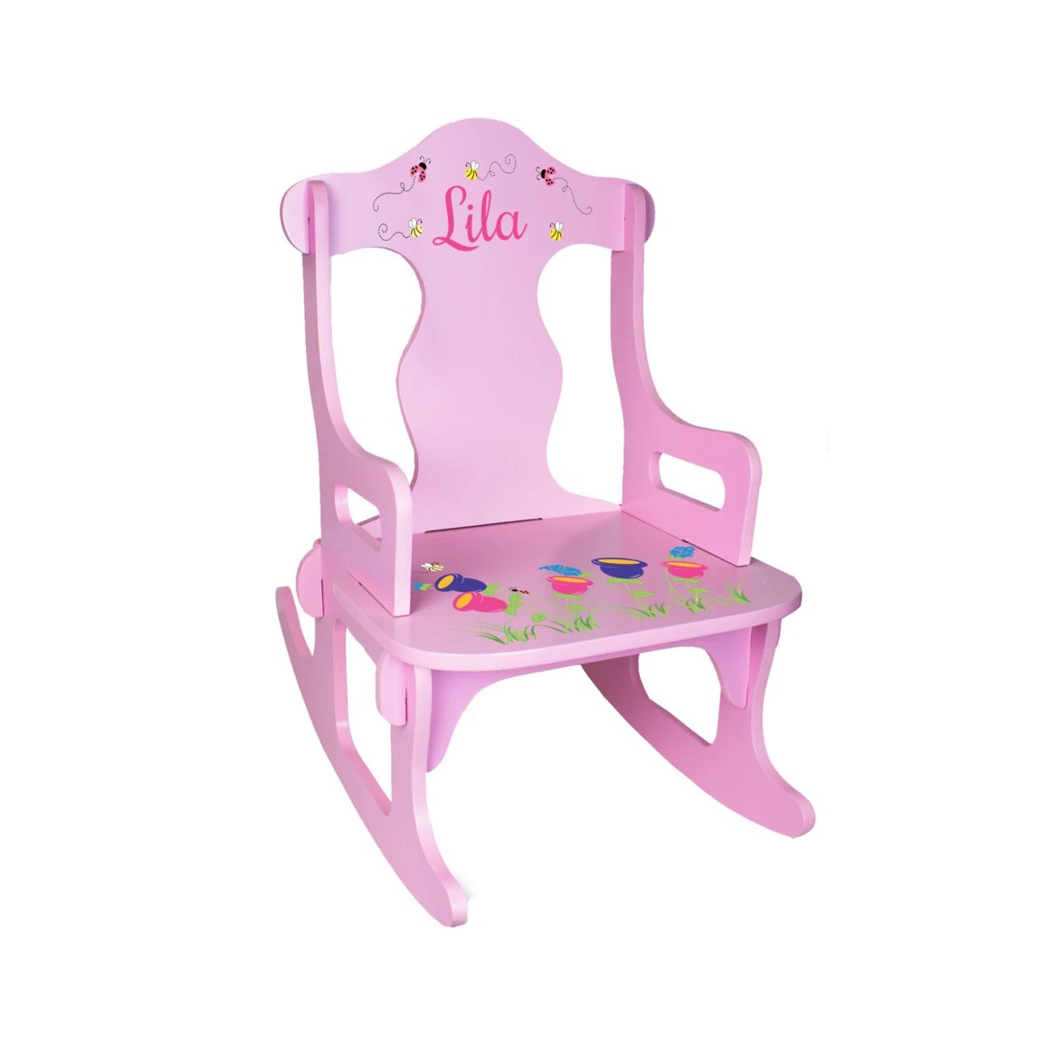 Personalized Chairs Personalized Kids Rocking Chair Custom Pink By Wizkickgifts