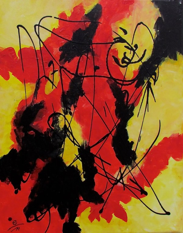 Items Similar Happy Asian Influenced Abstract Painting