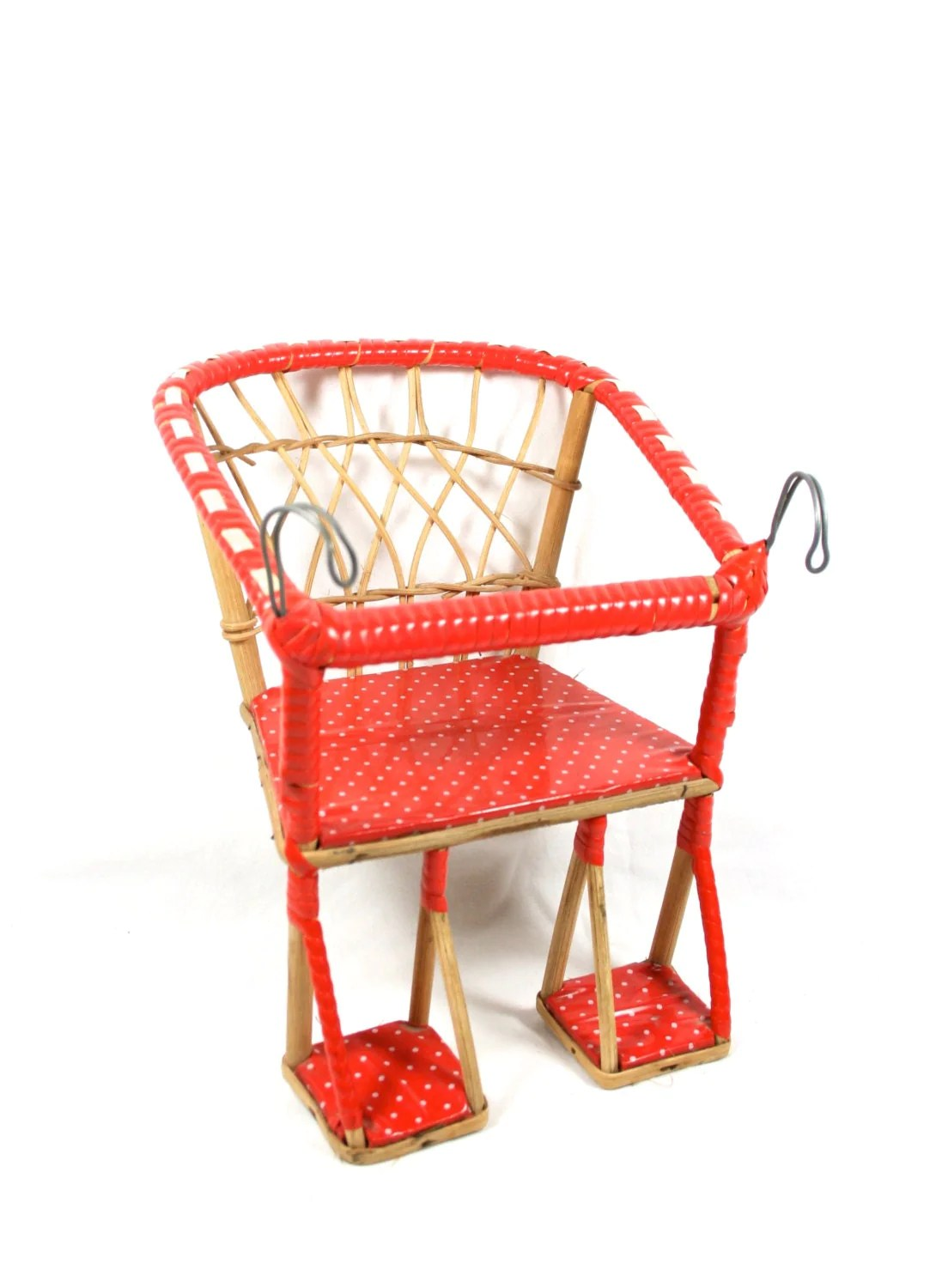 Bike Chair Red Wicker Doll Chair Bicycle Seat Bike Seat Doll Furniture