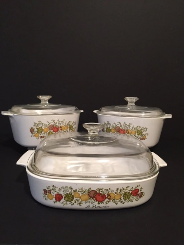 Vintage Spice Of Life Corning Ware Dishes Matching Set