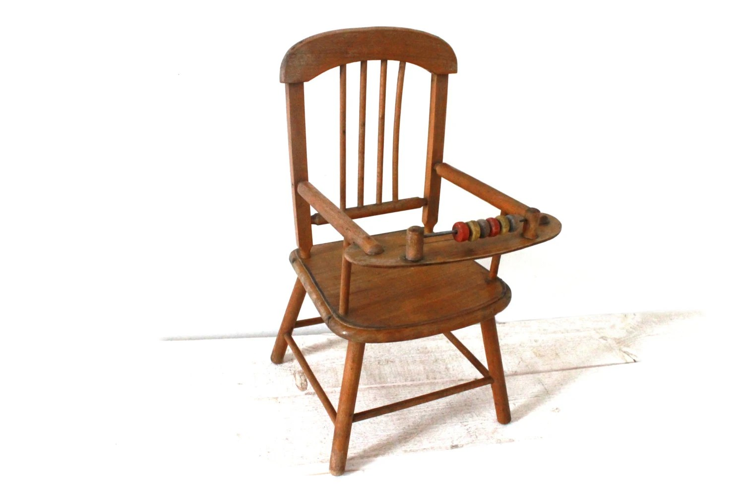 Marvelous photograph of Lovely little Wooden Baby Chair Toy for Doll with abacus. 1950  with #A73E24 color and 1500x999 pixels