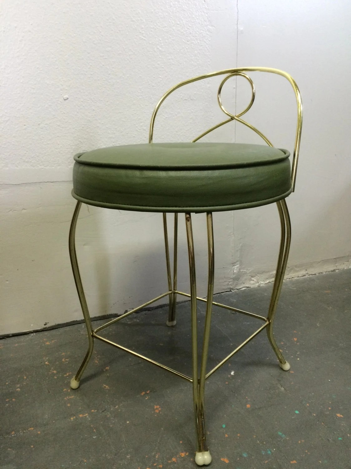 Modern Vanity Chair Mid Century Modern Vintage Vanity Chair Stool With Green
