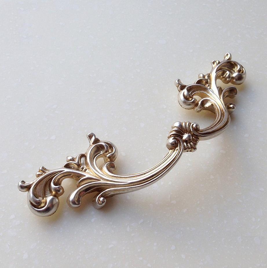 Antique Silver Handles Shabby Chic Dresser Drawer Pulls