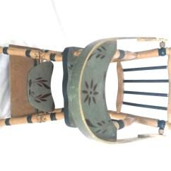 Antique High Chair Black Massage Wooden Doll Highchair By