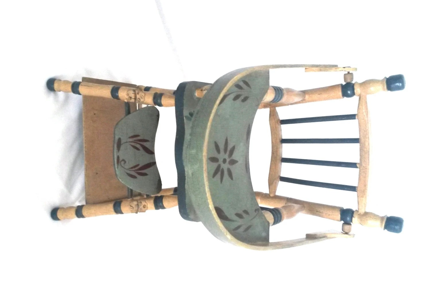 Wooden High Chair Antique Wooden Doll High Chair Highchair Doll High By