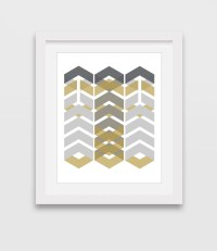 Chevron Wall Art Arrows Print Chevron Print Geometric Art
