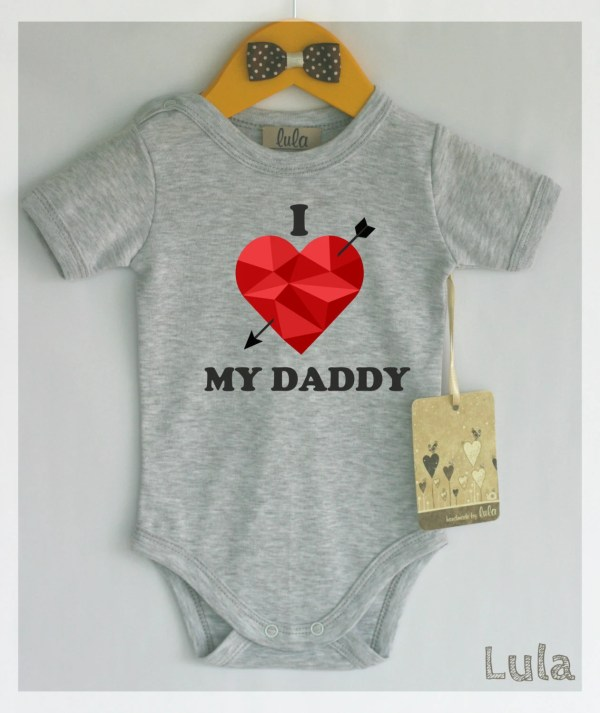 Love Daddy Baby Clothes. Adorable Romper With Heart