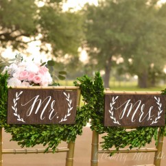 Mr And Mrs Chair Signs Mid Century Rocker Sign