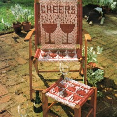 Macrame Lawn Chair Warren Works Vintage Cording Folding And Footstool