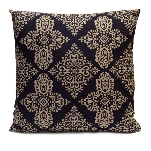 Blue and Beige Throw Pillows