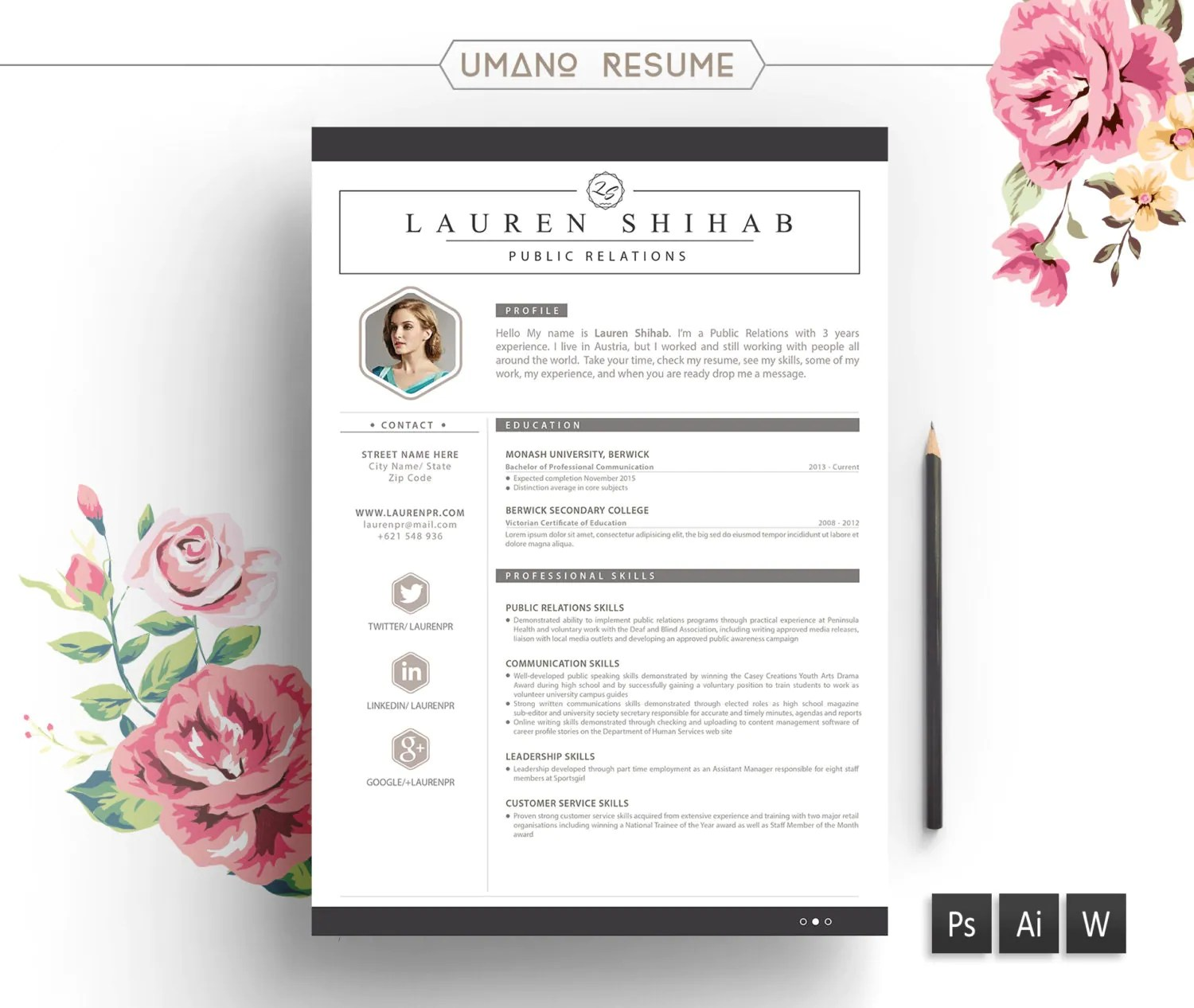 Free Creative Resume Template Resume Templates And Resume Builder