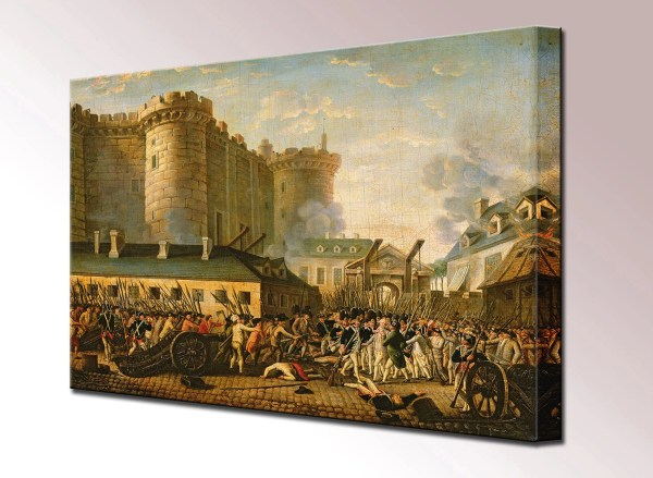 Storming Of Bastille Canvas Wall Art Print Ready
