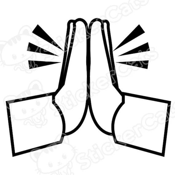 Emoji Praying Hands Vinyl Decal Die-Cut Sticker