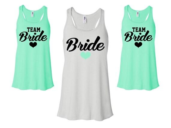 BRIDE SHIRT Bridal Party Tanks Team Bride Bachelorette