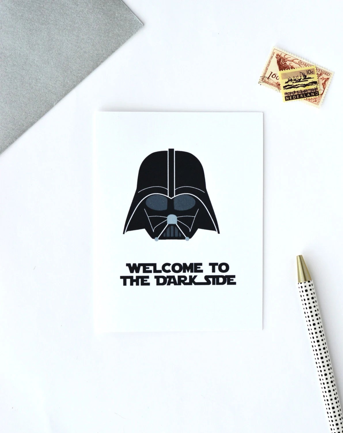 Star Wars Birthday Card Funny Card Darth Vader By