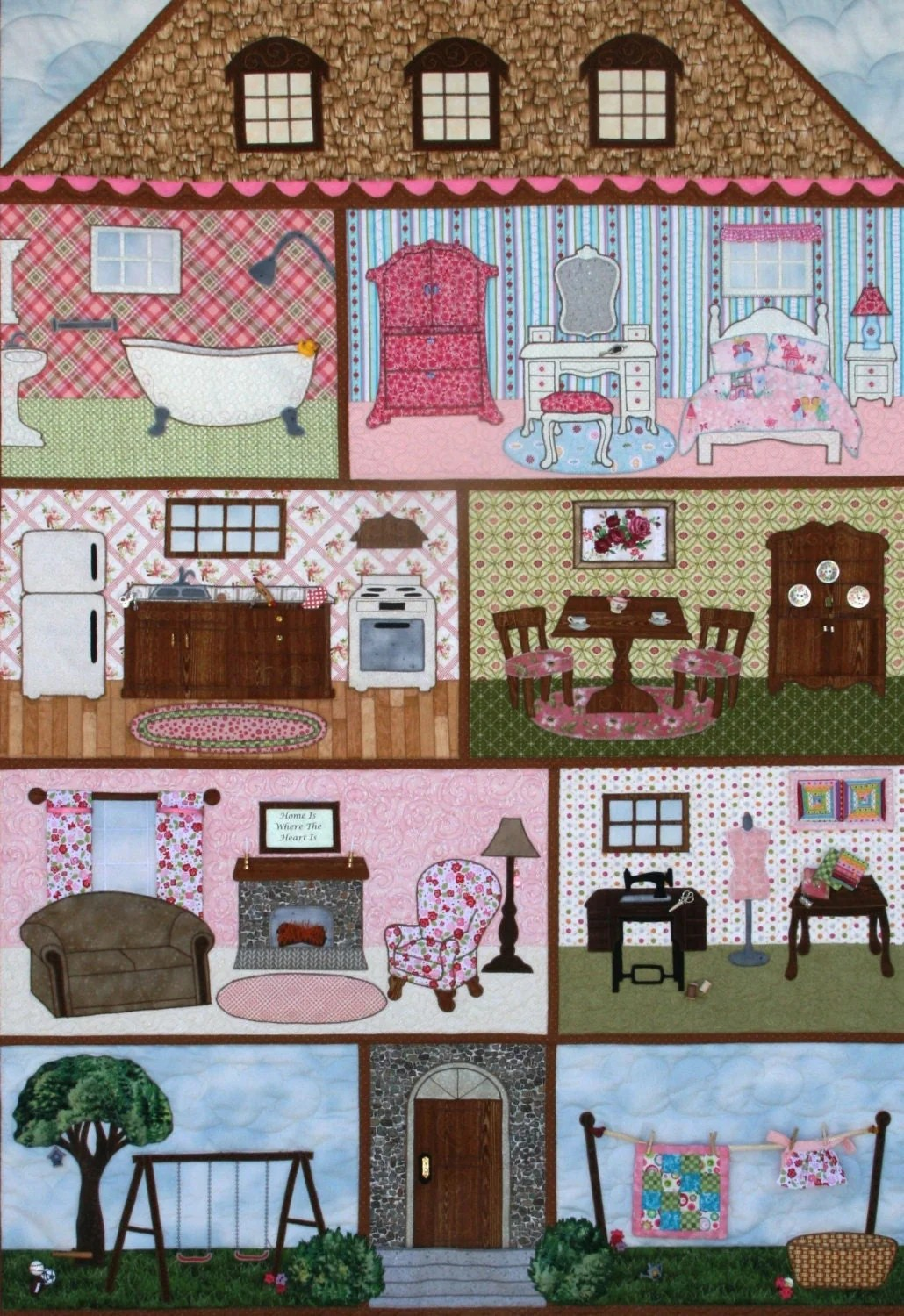 QUILT EMMAS DOLLHOUSE With Free Shipping