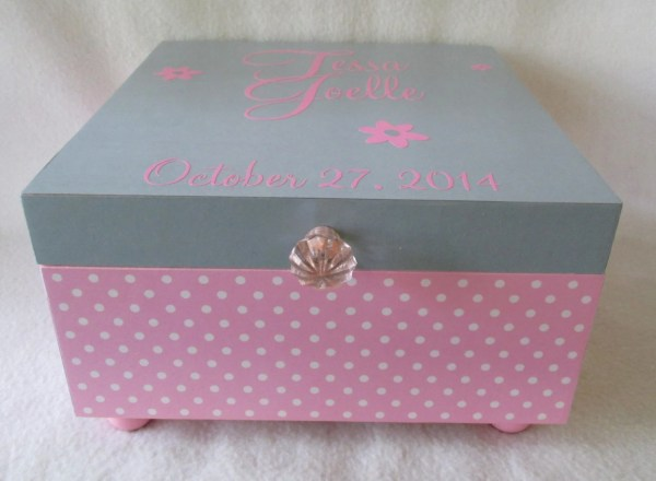 Personalized Keepsake Boxes for Girls