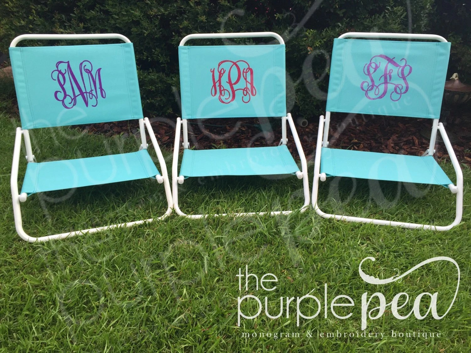 Monogram Chair Monogrammed Beach Chair By Thepurplepeaboutique On Etsy