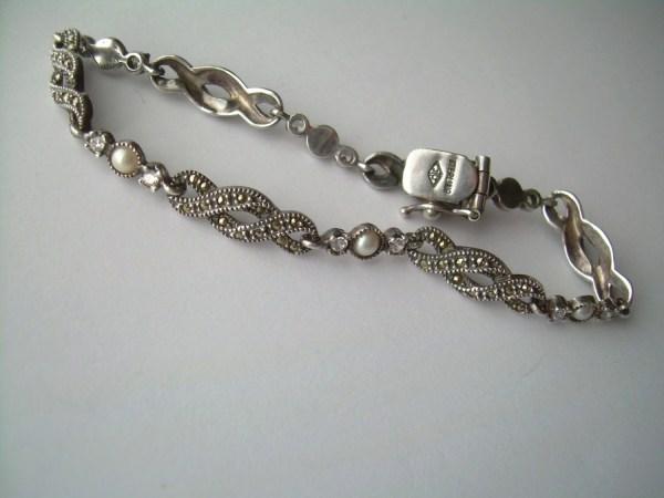 Judith Jack Link Bracelet-vintage Sterling Silver