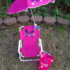 Personalized Little Kid Chair Baby Activity Argos Kids Beach With Umbrella And Matching
