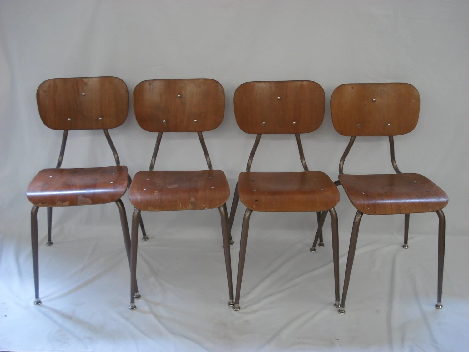 kitchen desk chair graco wooden high retro wood school dining chairs mid century modern