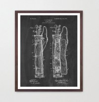 Golf Patent Poster Golf Wall Art Golf by WunderKammerEditions