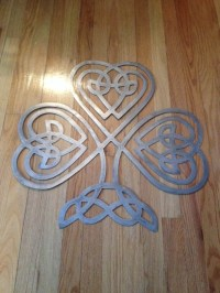 Metal Celtic Knot Clover Wall Decor Sign by ...