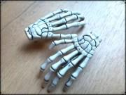 zombie skeleton hand hair