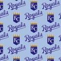 Kansas city royals cotton fabric mlb wide 59 by vinesnivyfabrics