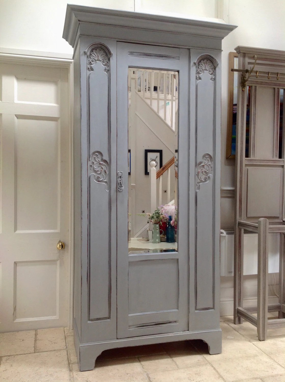 Painted Armoire Wardrobe A Good Way To Paint A Wardrobe
