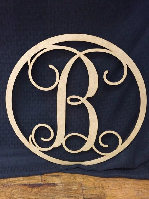 Circle Monogram Wall & Door Decoration, DIY Decoration for