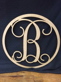 Circle Monogram Wall & Door Decoration, DIY Decoration for ...