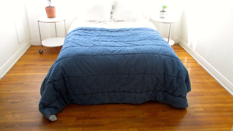 Denim Blanket Vintage Tommy Hilfiger Comforter Jean