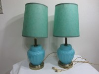 Turquoise Lamp Set of 2 Includes Shades read item details