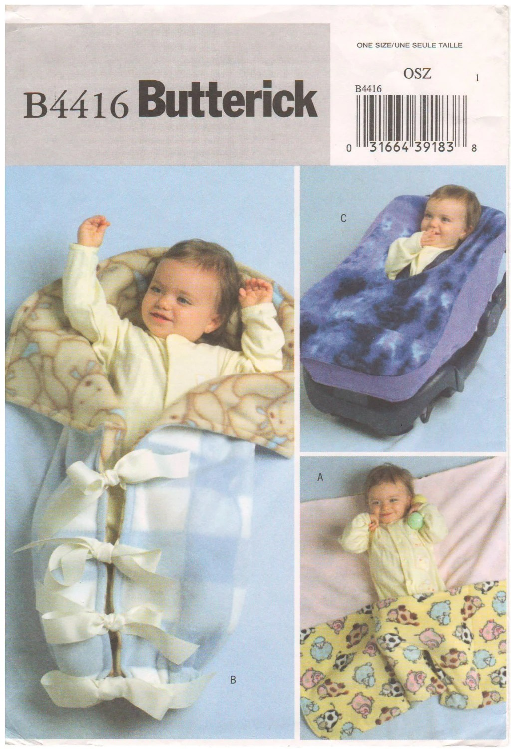 Infant Car Seat Good For How Long 2004 Butterick 4416 Sewing Pattern Infant Baby Fleece Wrap