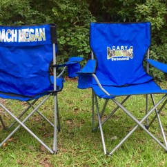 Custom Folding Chairs No Stress Chair Monogrammed Personalized Coach 39s Camp