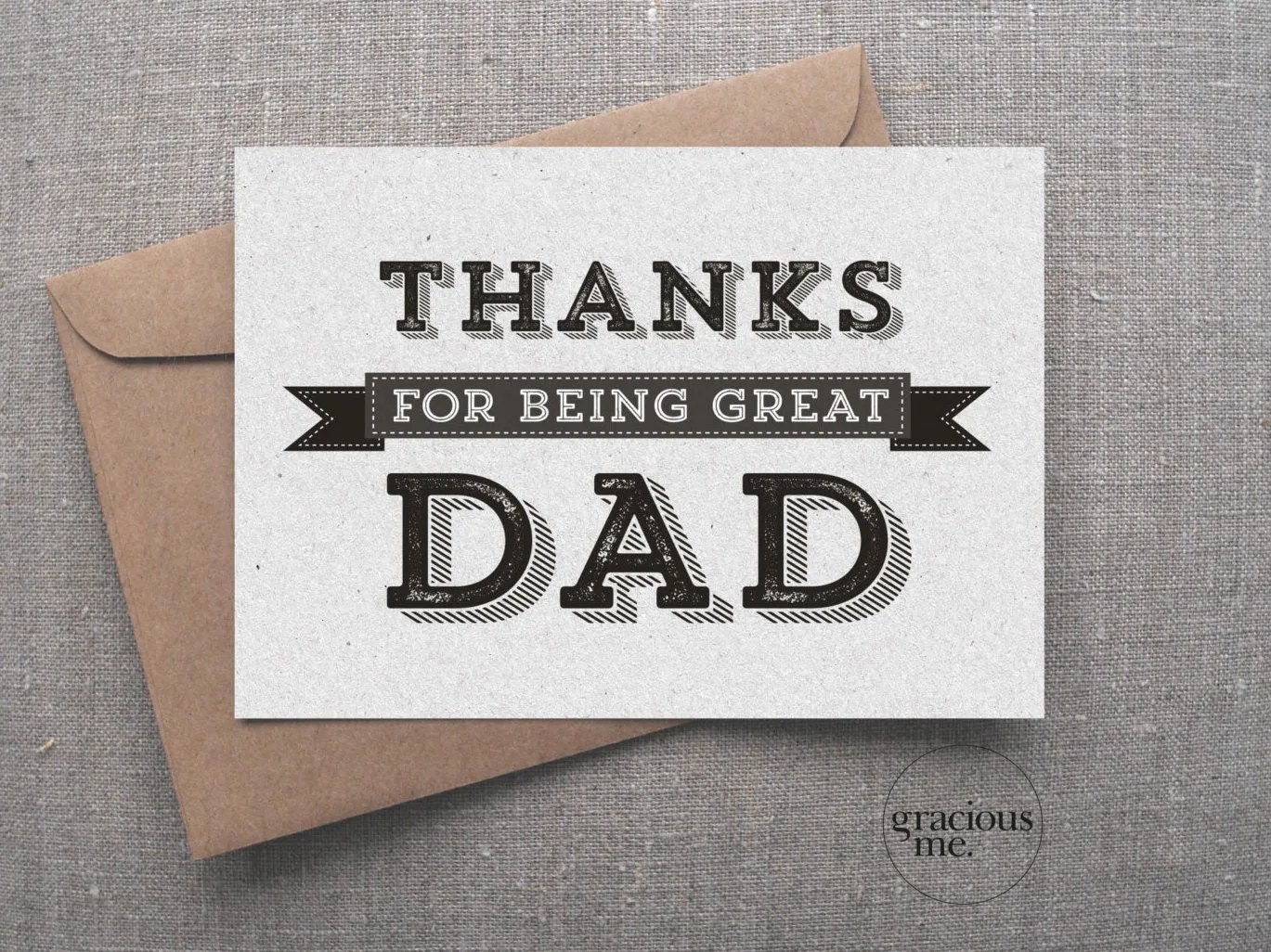 Thank You Card Thanks For Being Great Dad Card