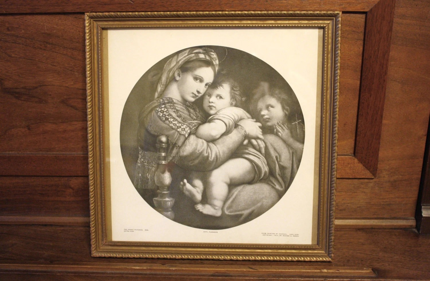 madonna of the chair white directors chairs australia virgin mary framed by maxandmaddievintage