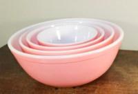 Pink Pyrex Mixing Bowl Set RARE Set of 4 Complete Set