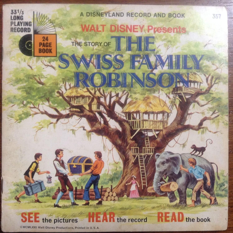 Walt Disney Swiss Family Robinson Record And Book Set